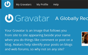Gravatar screenshot