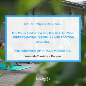Yoga quote by Amanda Daniels